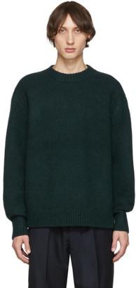 Acne Studios Green Wool Cashmere Crewneck Sweater