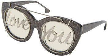 Alice + Olivia Walker Love You Cat-Eye Sunglasses
