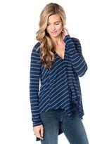 Pea Collection BCBGMAXAZRIA Asymmetrical Maternity Shirt