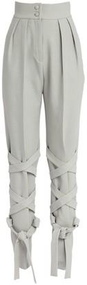 MATÉRIEL Strap-Detail High-Waist Trousers
