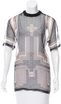 Givenchy Sheer Cross Print Top