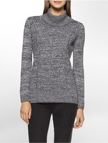 Calvin Klein Marled Knit Cowl Neck Sweater