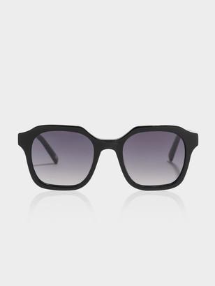 Carolina Lemke Womens Oversized Bambi Sunglasses in Black