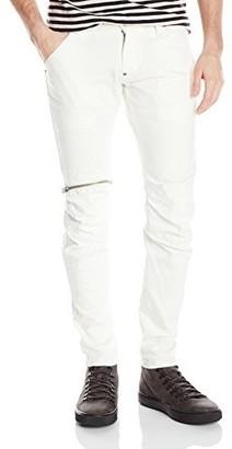 G Star Men's 5620 3D Zip Knee Super Slim Inza White Stretch