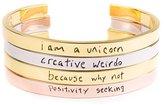 Mr. Kate Positive Motto Cuff Bracelet