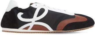 Loewe Anagram Leather & Nylon Low Top Sneakers