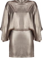 Plein Sud Jeans Matte Bronze Silk Dress