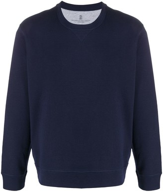 Brunello Cucinelli Crew Neck Relaxed Fit Sweater