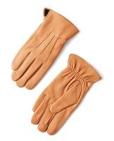 Frank & Oak Deerskin Gloves in Tan