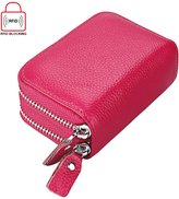 BURNING SECRET RFID Secure Women's Genuine Leather Spacious Cute Zipper Card Wallet Small Purse