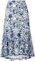 Martha Medeiros - midi lace Naty skirt - women - Silk/Polyester - 38