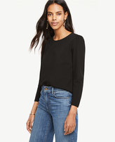 Ann Taylor Ponte Puff Sleeve Top