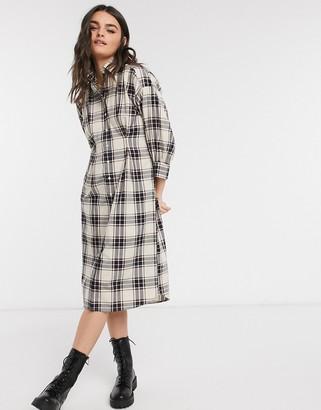 Gant oversized shirt dress in check