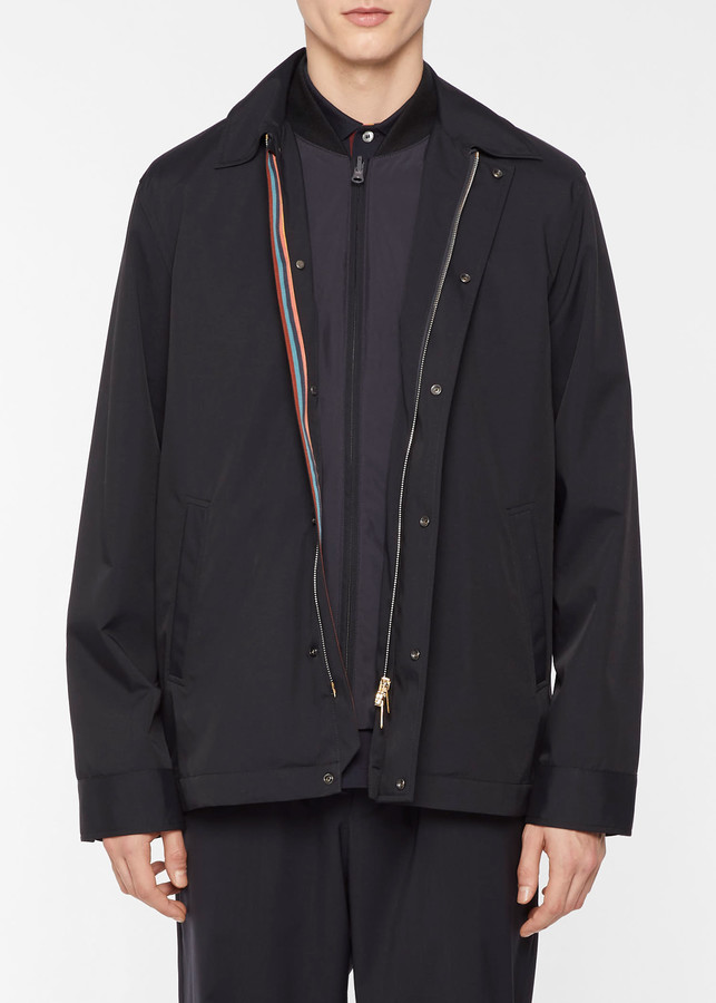 Paul Smith Men's Dark Navy 2-In-1 Coach Jacket