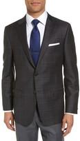 Hickey Freeman Men's B Series Classic Fit Plaid Wool Sport Coat
