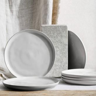 The White Company Portobello Grey Dinner Plate Set Of 6, Grey, One Size