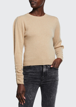 Frame Gabby Cashmere Sweater with Gathered Sleeves