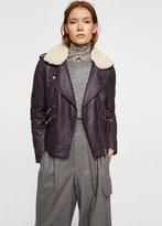 MANGO Sheepskin leather jacket