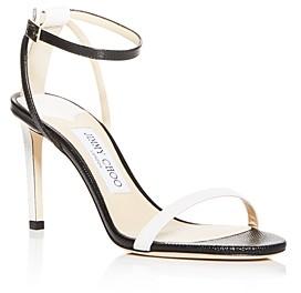 Jimmy Choo Women's Minny 85 Lizard-Embossed High-Heel Sandals