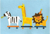 Good paper Safari train notecard