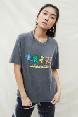 Urban Outfitters Grateful Dead Graphic T-Shirt - Grey XS at