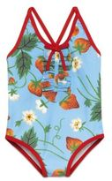 Gucci Baby's One-Piece Strawberry-Print Swimsuit