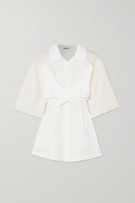 Ambush Tie-detailed Cotton Shirt