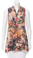 Alice + Olivia Sleeveless Printed Tunic