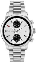 paul smith watches for men shopstyle uk paul smith men s quartz watch white dial chronograph display and silver stainless steel bracelet p10034