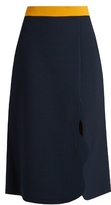 Roksanda Marten wave-edged midi skirt