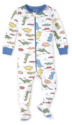 Children's Place The Baby Toddler Boy Long Sleeve Footed Stretchie Pajamas