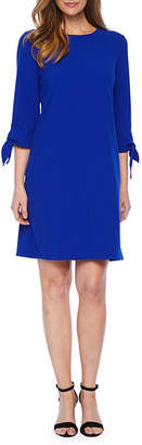 Liz Claiborne 3/4 Tie Sleeve Shift Dress