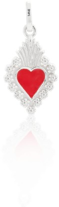 Exquisitely Detailed Heart My Love Charm Handmade In Sterling Silver & Ceramic