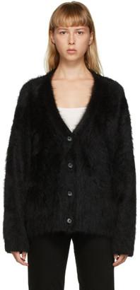 Totême SSENSE Exclusive Black Alpaca Biella Cardigan