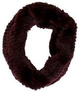 Adrienne Landau Knitted Fur Infinity Scarf