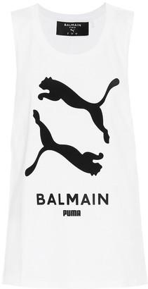 Puma x Balmain printed cotton tank top