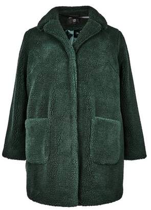 Dorothy Perkins Womens **Dp Curve Green Teddy Coat, Green