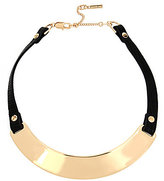 Kenneth Cole New York Faux-Leather & Sculptural Metal Collar Necklace