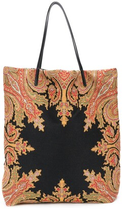 Etro Paisley Embroidered Tote