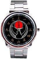 Wrist Watches CBBK004 New Japan Wado Ryu Karate Do Jujutsu Japanese WIKF Black Belt Dojo Unisex Watch