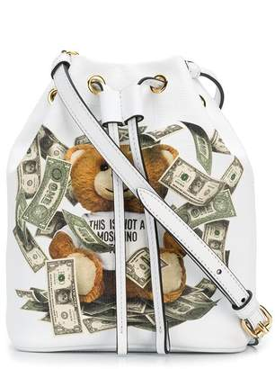Moschino teddy bear bucket bag