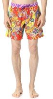 Moschino Pattern Mix Swim Trunks