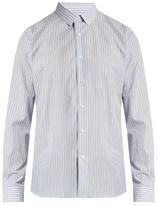 Valentino Button-cuff multi-striped cotton-poplin shirt