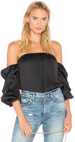 Bardot Caught Sleeve Bustier Top in Black. - size L (also in M,S,XS)