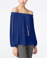 INC International Concepts Petite Off-The-Shoulder Split-Sleeve Top, Created for Macy's
