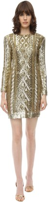 Max Mara Sequined Techno Jersey Dress