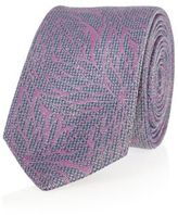 River Island MensBlue and pink floral print tie