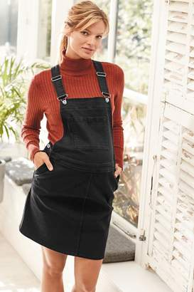 Next Womens Black Maternity Denim Pinafore - Black