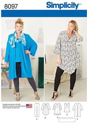 Simplicity Women's Tunic Sewing Pattern, 8097