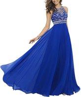 Carat Elegant Royal Chiffon Sexy Sparkly Beading A-line Prom Dresses (size)